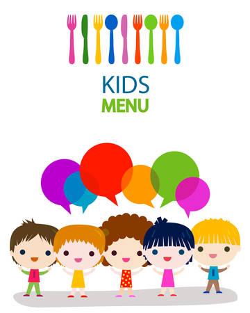 menu kids background design