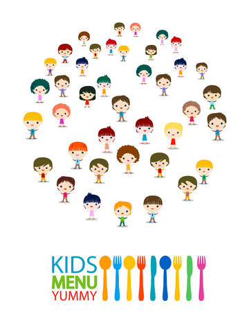 menu kids background design