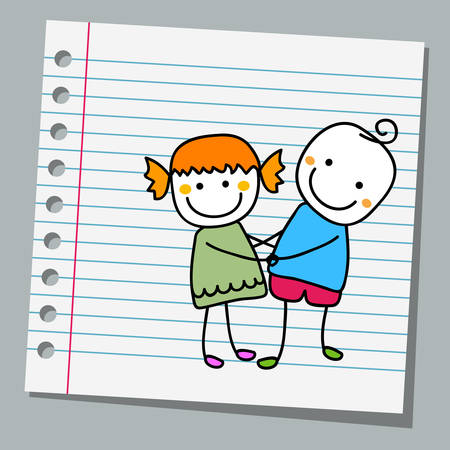 notebook paper cute couple