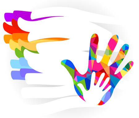 hand colorful illustration Illustration