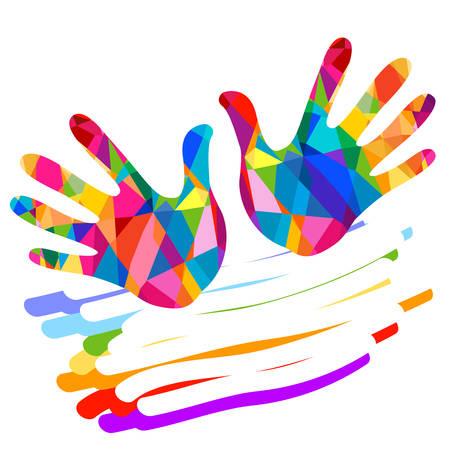 hand colorful illustration background