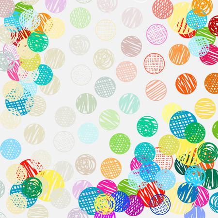 polka dots sketch pattern colorful pattern Illustration