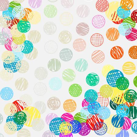 polka dots sketch pattern colorful pattern Illustration