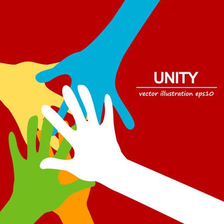 diversidad: manos Unión diversa