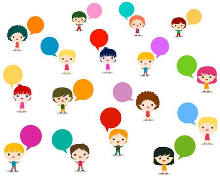 kids talking Illustration