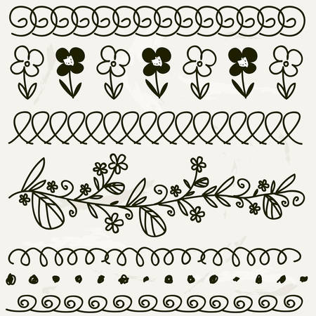black and white hand drawn dividers