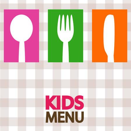 kids menu design illustration Illustration