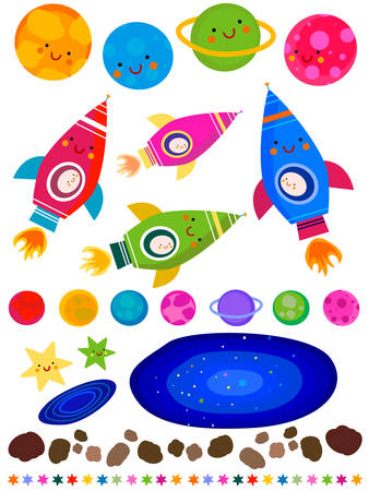 stars and planets, space collection