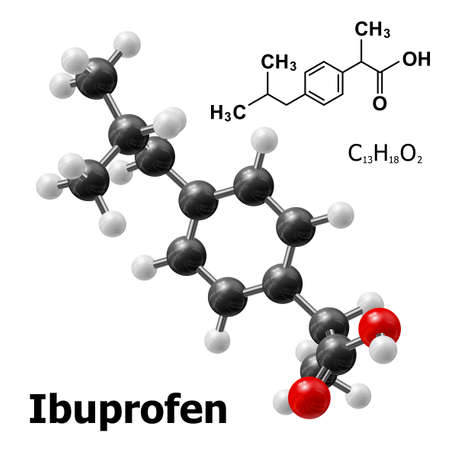structural model of Ibuprofen molecule