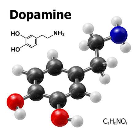 structural model of Dopamine molecule