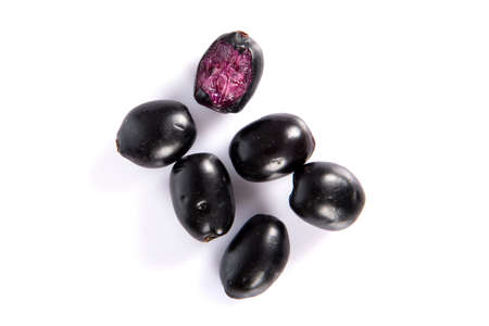 Jambolan plum or Java plum (Syzygium cumini) Banque d'images