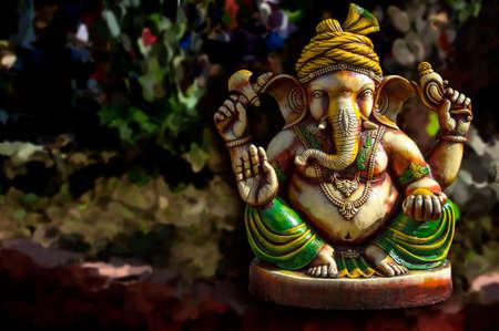Hindu God Ganesha. Ganesha Idol. Фото со стока
