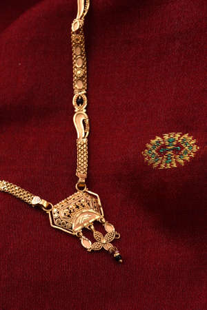 Indian Traditional Jewellery on soft cloth
