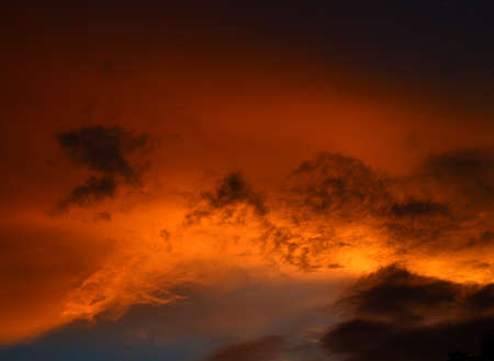 Beautiful sunset sky with clouds. Abstract sky.