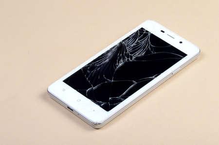 Smart Phone with broken screen Stock fotó