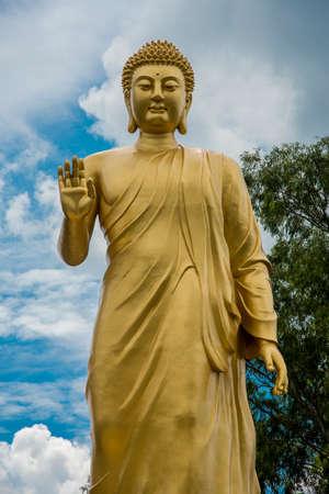 Statue of Buddha in sky background. Giant Buddha Statue. 版權商用圖片