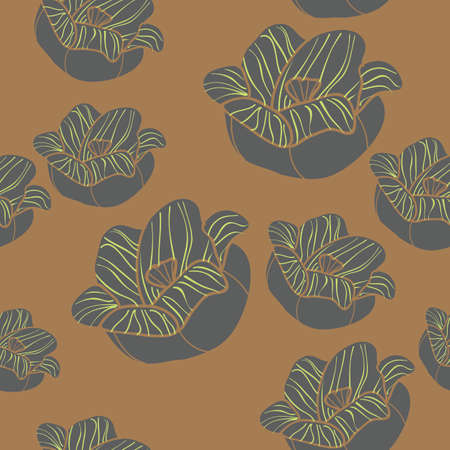 seamless: Seamless Floral Pattern Stock Photo