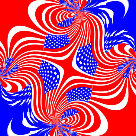 Abstract bue and red wavy red stripes background