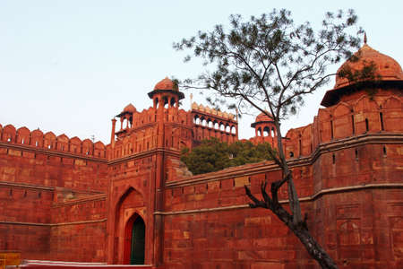 Entrance of Red Fort, Delhi India Stock Photo
