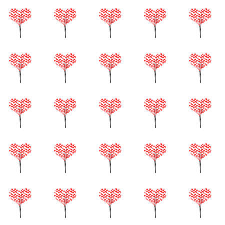 A tree of hearts background