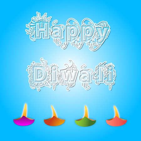 Happy Diwali Greetings with Diwali lights