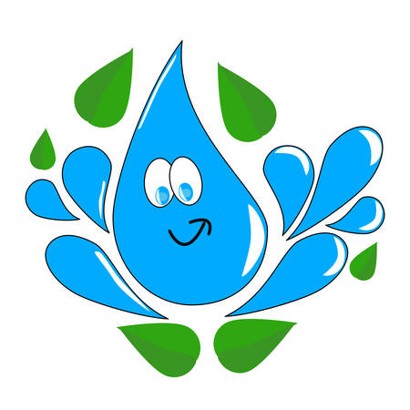 Water drop as a save water concept vector. Illustration