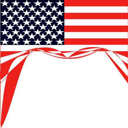 star background: American Flag vector illustration background Illustration