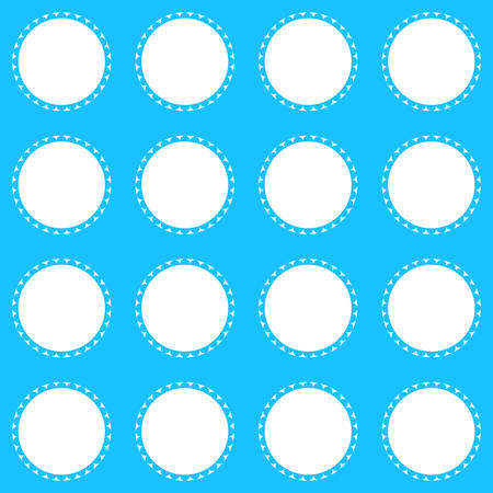 Ornamental geometric design in white and blue background  template vector illustration