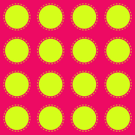 Ornamental geometric design in green and pink background  template vector illustration Illustration