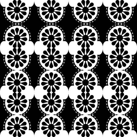 Ornamental geometric design in black and white background  template vector illustration Stock Vector - 79888795