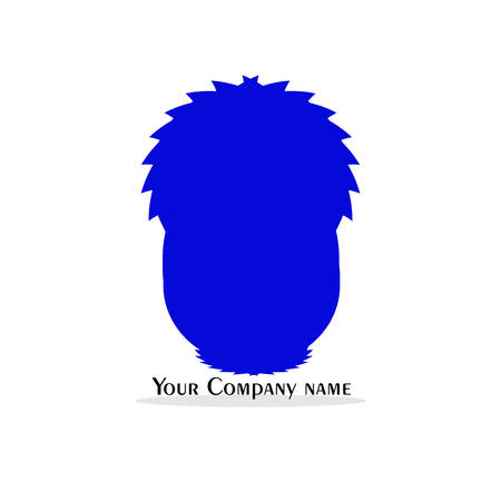Logo abstract  logo in blue isolated on white background, Illustration