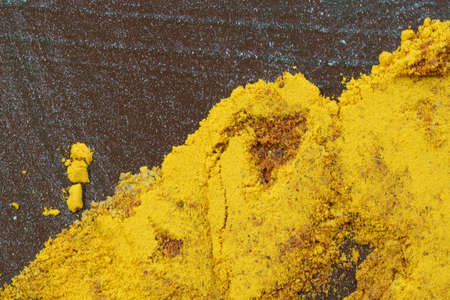 Close up of Indian spices, Turmeric powder