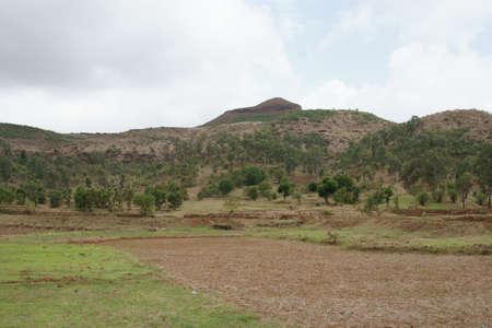 Farming and fields near NH 160, Bombay to Ghoti Maharashtra, India