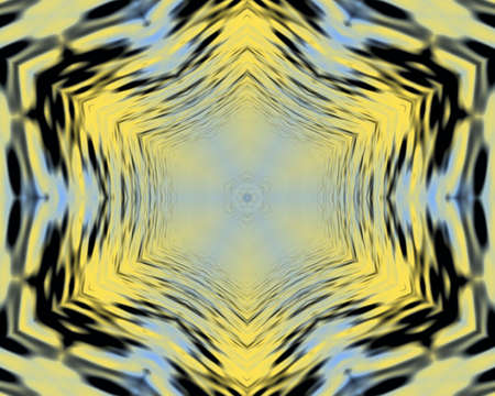 Yellow and blue Wavy abstract silky background