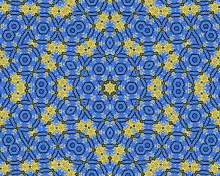 Yellow and blue abstract pattern background filling the frame