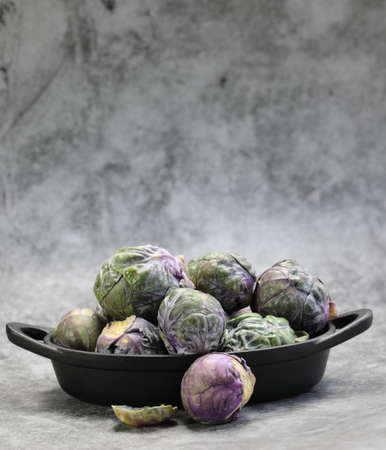 A Bowl of Brussels Sprouts with copy space.