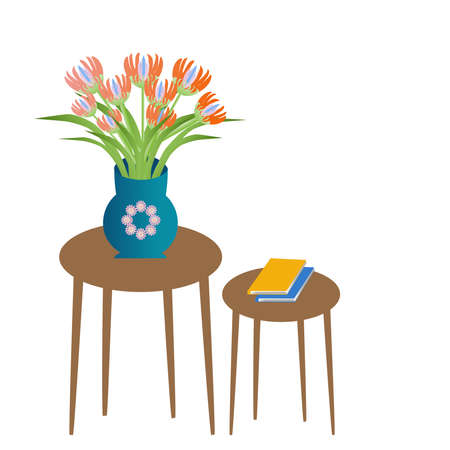 A table with a bunch of flowers in a vase