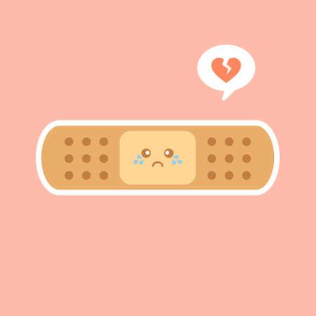 Cute plaster icon cartoon. Single medicine icon from the big medical, healthcare cartoon. Adhesive plaster icon cartoon. Single medicine icon from the big.