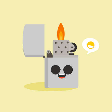 Lighter icon. Flat illustration of lighter vector icon for web design. Risk and dangerous about fire or flame. warning for Flammable