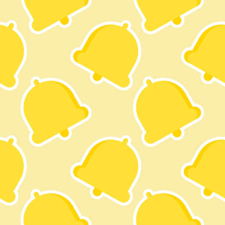 bell, vector seamless pattern, Editable can be used for web page backgrounds, pattern fills