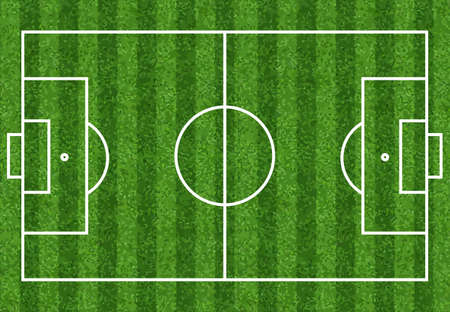 Football soccer field vector illustration. Coach table for tactic presentation for players. Sport strategy view. Flat soccer green field, football grass. Vector stadium. Soccer with line template.