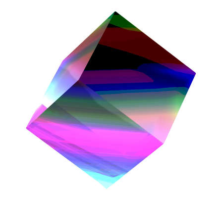 glassed: the colorful 3d cube, isolated