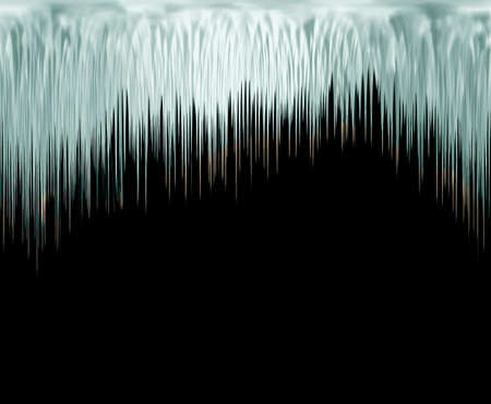 trickle: the icicles on black background