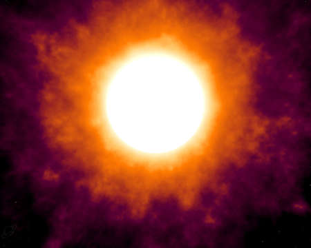 Solar activity in stellar sky photo