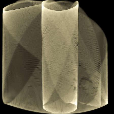 tejido: el rollo de papiro delgado, negro en 3D Foto de archivo