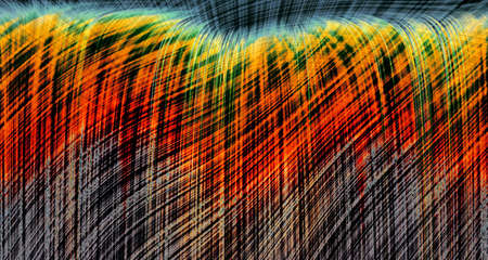 Abstract pencil picture; windy rye photo