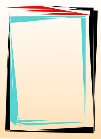 cadre: the abstract frame on white Illustration