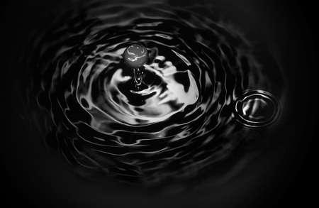 verdunkeln: die schwarze Fl�ssigkeit tropft, vereinzelt Lizenzfreie Bilder
