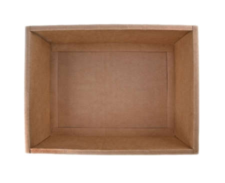 void: the cardboard box; isolated Stock Photo