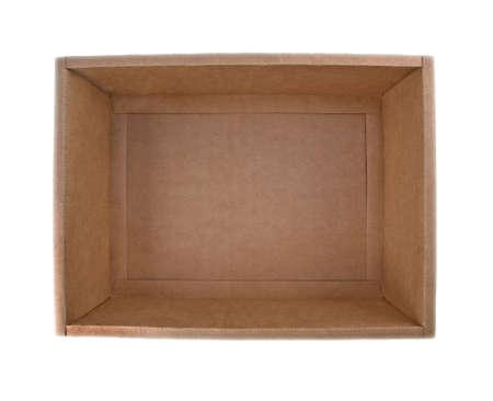 the cardboard box; isolated Stock Photo